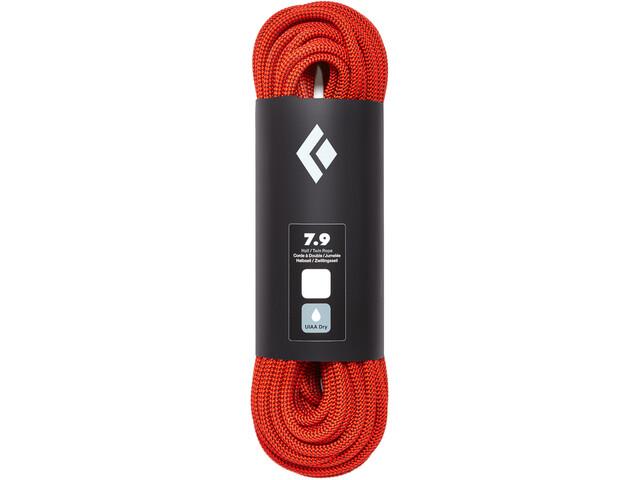 Black Diamond 7.9 Rope Dry Rope 10 mm, 70 m, orange